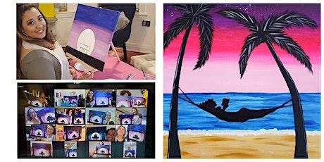 "Live Virtual Painting Class ""Hammock on the Beach"" tickets"