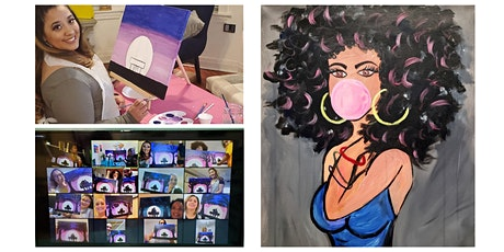 "Live Virtual Painting Class ""Bubble Gum Girl"" tickets"