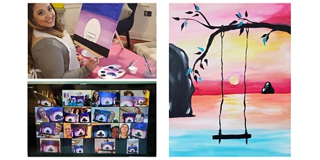 "Live Virtual Painting Class ""Swing in the Sunset"" tickets"