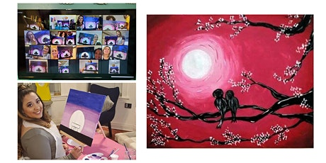 "Live Virtual Painting Class ""Lovebirds"" tickets"