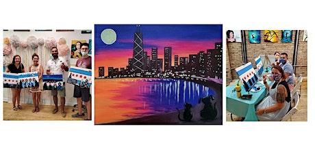 "BYOB Sip & Paint Class ""Cat & Dog City Skyline"" tickets"