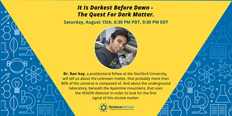 """Science on the Rocks- """"The quest for dark matter"""" tickets"""