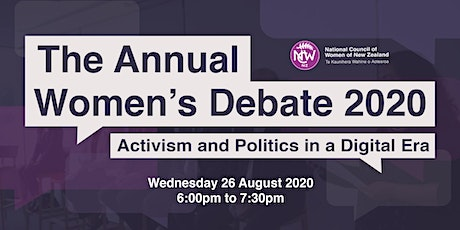 The Annual Women's Debate 2020: Activism and Politics in a Digital Era tickets