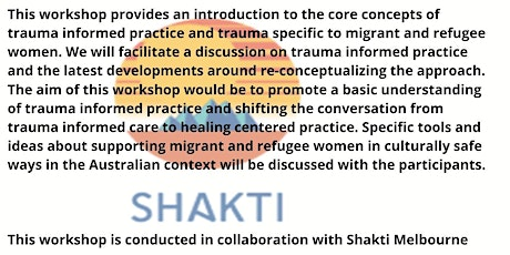 The future of trauma informed practice-engaging in healing centred practice tickets