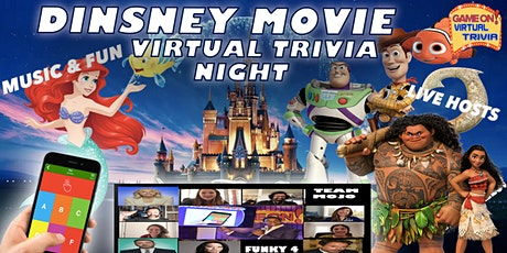 DISNEY  MOVIE TRIVIA  NIGHT  Play &  answer in real time Prizes tickets