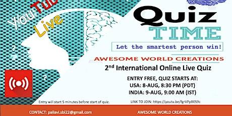 2nd International Online General Knowledge quiz tickets