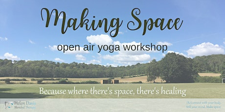 Making Space open air yoga workshop tickets