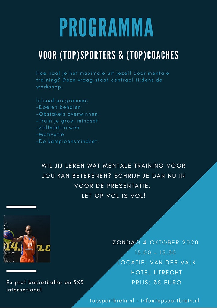 Afbeelding van Presentatie Mentale Training voor (Top)coaches en (Top)sporters