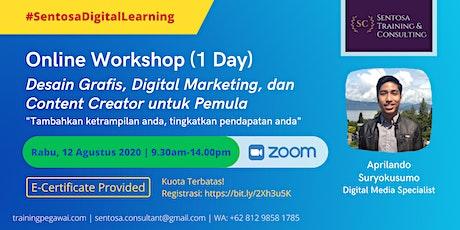 Workshop: Desain Grafis, Digital Marketing, dan Content Creator Pemula tickets