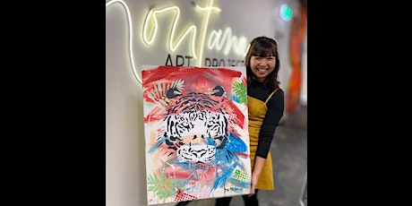 Tiger Paint and Sip Party  10.10.20 tickets