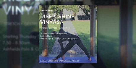 Rise and Shine Vinyasa Flow tickets