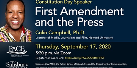 Constitution Day Speaker - Dr. Colin Campbell tickets