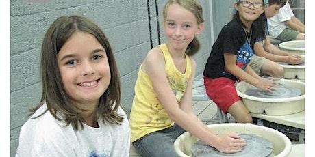 Youth Wheel Throwing & Handbuilding  Class 8/18 tickets