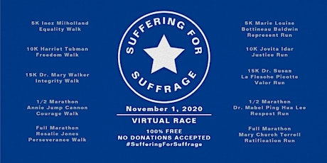 Suffering For Suffrage Virtual 5K Represent Run tickets