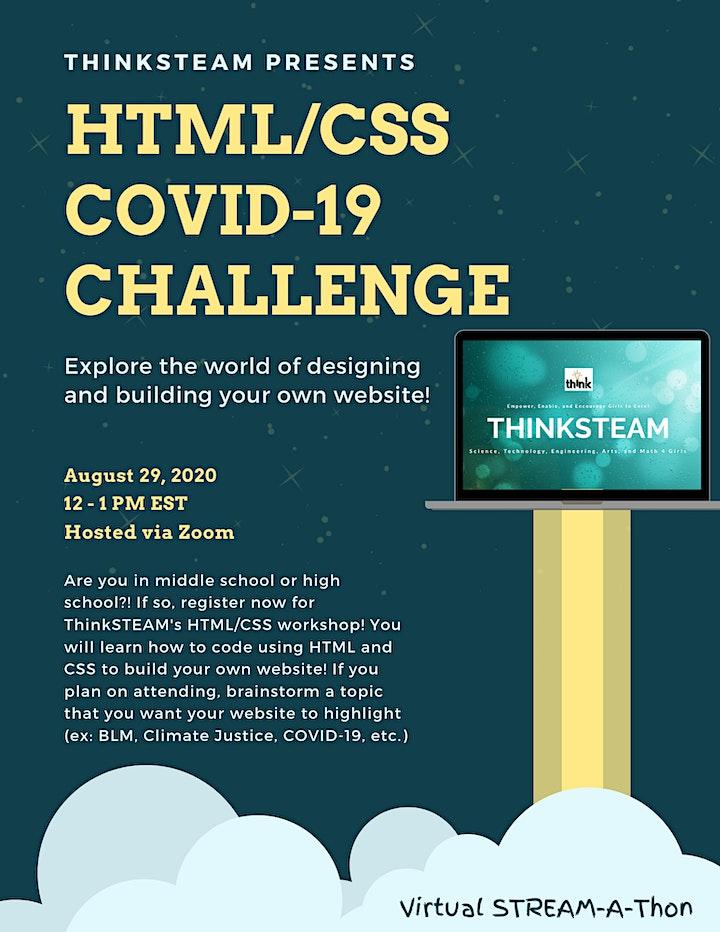 HTML/CSS COVID-19 Challenge image