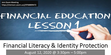 FINANCIAL LITERACY –AN INTRODUCTION (FREE ONLINE WORKSHOP) tickets