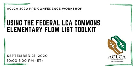 Using the Federal LCA Commons Elementary Flow List Toolkit tickets