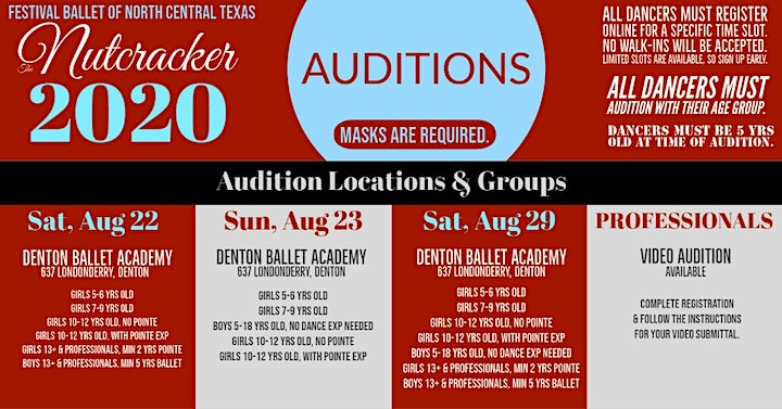 2020 Festival Ballet of North Texas Nutcracker PROFESSIONALS VIDEO AUDITION image