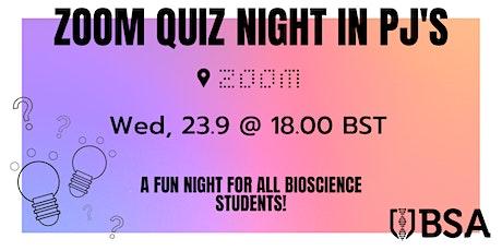Zoom Quiz Night in PJ's! tickets