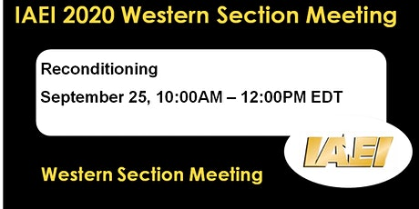 IAEI Western Section - Reconditioned Equipment tickets