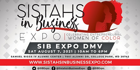 Sistahs in Business Expo 2021 - DMV Area tickets