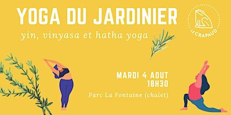 Yoga du jardinier au Crapaud billets