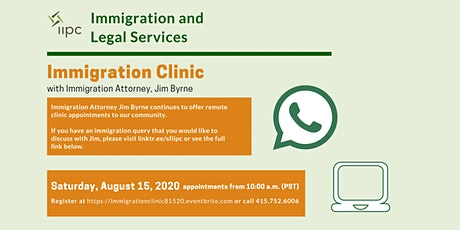 Virtual Immigration Clinic 8/15/2020 tickets