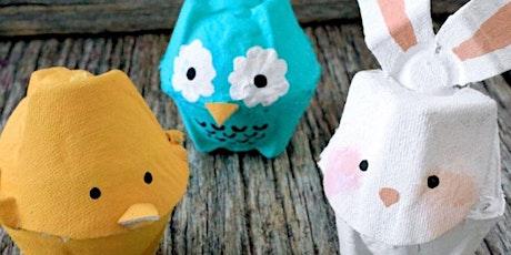 Online school holiday activity - Egg carton creatures tickets
