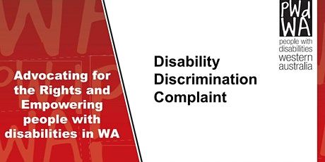PWdWA Disability Discrimination Complaint tickets
