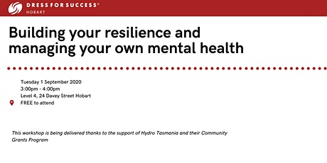 Dress for Success Workshop Series - Building your own resilience tickets