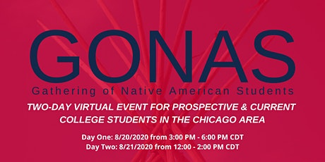 Two Day Virtual Event, Gathering of Native American Students 2020 tickets