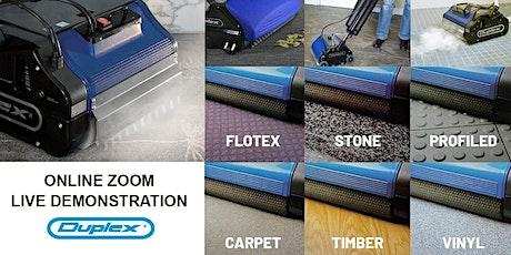 ZOOM Demonstration - Floor Cleaning with Duplex floor scrubber (Recurring) tickets