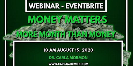 Money Matters Presented By $Wealth $Talks Tickets