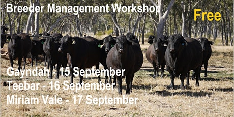 Breeder Management Workshop tickets
