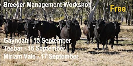 Breeder Management Workshop tickets