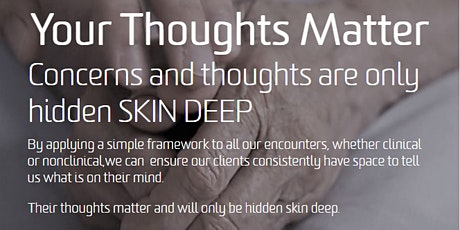 Your Thoughts Matter: SKIN DEEP Workshop (WHCG Horsham Day Centre) tickets