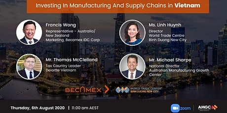 Investing in Manufacturing and Supply chain in Vietnam tickets