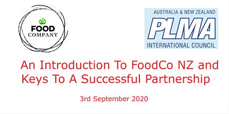 PLMA: An Introduction To FoodCo NZ and Keys To A Successful Partnership tickets