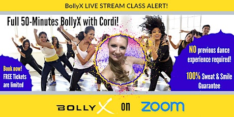 BollyX with Cordi -  FREE TRIAL CLASS on Sunday tickets