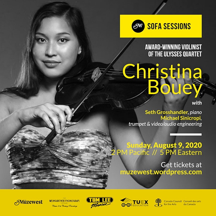 Christina Bouey, live from home in the Sofa Sessions at Muzewest Concerts image