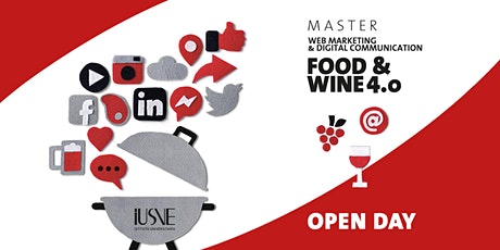 OPEN DAY Master FOOD & WINE 4.0 -  Live streaming biglietti