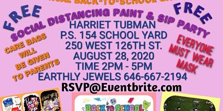 12th Annual BACK-TO-SCHOOL GIVE-AWAY  Social Distancing Paint & Sip Party tickets
