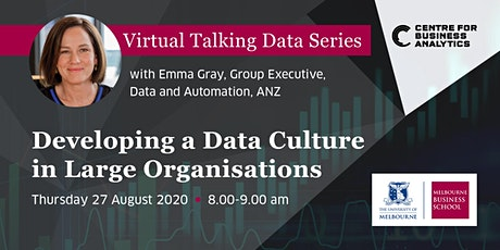 Virtual Talking Data Series: Emma Gray - Group Exec Data & Automation (ANZ) tickets