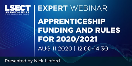 Apprenticeship funding and rules for 2020/2021 tickets