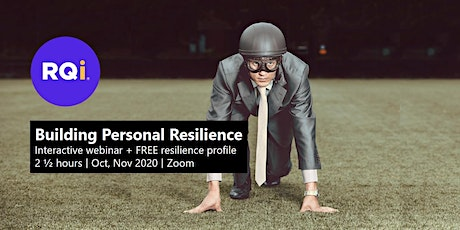 Building Personal Resilience - Interactive Webinar tickets