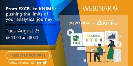 Webinar - From Excel to KNIME: pushing the limit of your analytical journey tickets