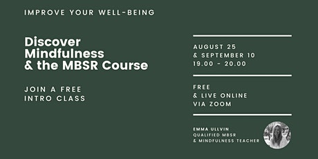 Discover Mindfulness: Intro to MBSR Class tickets