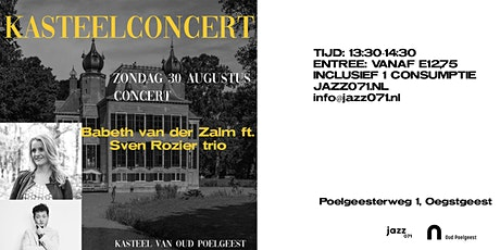 Kasteelconcert presents: Babeth van der Zalm ft. Sven Rozier trio tickets