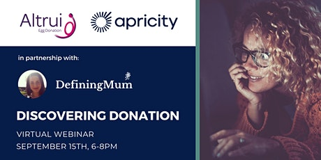 Discovering Donation: a Virtual Support Evening with Defining Mum & Altrui tickets