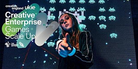 Creative Enterprise: Games Scale Up programme launch webinar & Q/A tickets